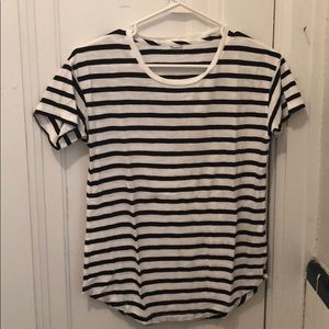 MADEWELL crew neck tee black and white stripe